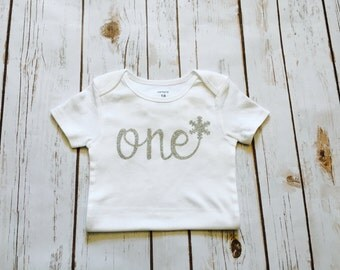 First Birthday Outfit - SALE - Winter Wonderland - Onderland - Cake Smash - One Outfit - One Cake Topper -  1st Birthday
