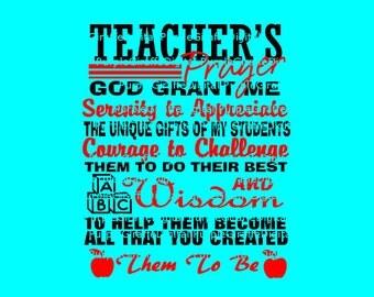 Teachers Prayer SVG Teachers SVG and DXF