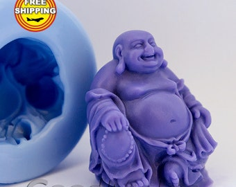 Hotei soap mold Food-grade silicone molds Mold Money god mold Mold for soap Free shipping