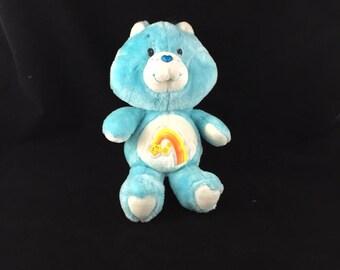 Vintage Wish Bear Care Bear Plush 1983