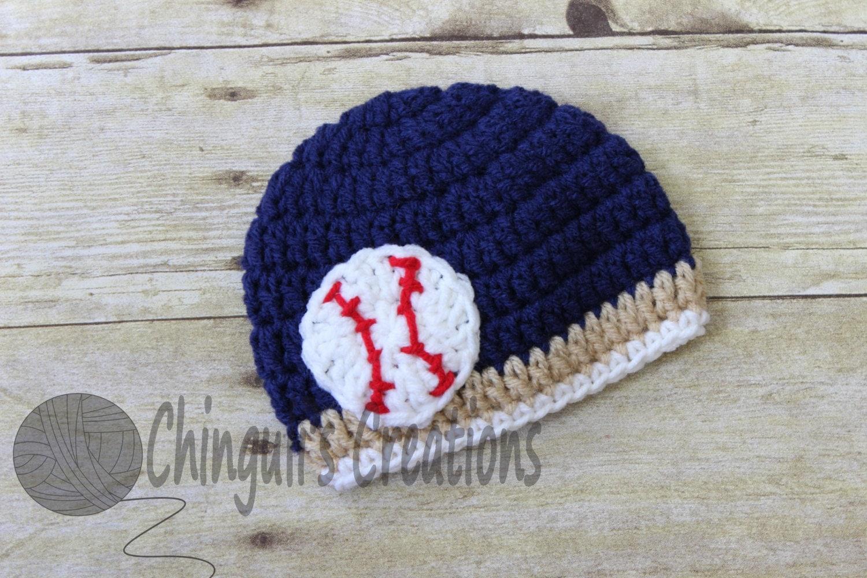 baby baseball hat baby crochet hat san diego padres inspired