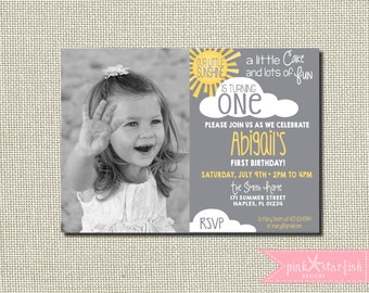 Sunshine Birthday Invitation, You Are My Sunshine, Our Little Sunshine, Sunshine Invitation, First Birthday Invitation, Digital Printable