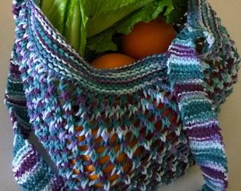 Farmer's Market Tote, Market Bag, Knit Bag, Knit Tote
