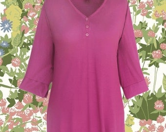 Women's Plus Size Tunic Top | Long Sleeve Tunic Shirt, One Plus Size XL  1X Clothes