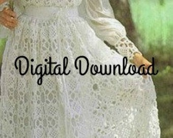 Hippie wedding dress etsy crochet wedding dress pattern vintage hippie boho romantic lacy juliet cap veil granny junglespirit Images