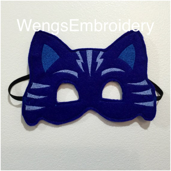 Pj Masks Catboy Inspired Mask In The Hoop Embroidery Design