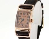 10K Rose Gold Filled Hamilton Driver Wrist Watch