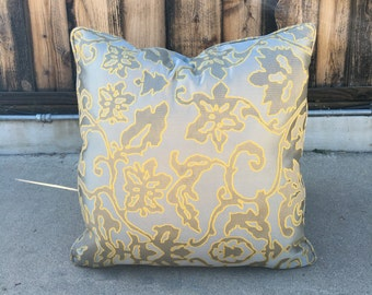 Silk Blend Pillow, Silk Decorative Pillow, Silk Throw Pillow