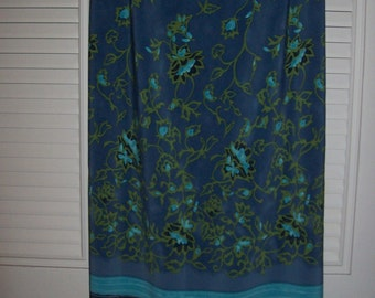 Vintage Maxi Sarong Skirt PLUS size 20 - 22  Turquoise India Flavor see details