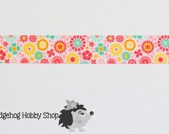 "7/8"" grosgrain ribbon, grosgrain ribbon, floral ribbon, craft supplies, hairbow supplies,"
