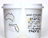 Good Friends Are Like Stars, You Don't Always See Them But You Always Know They Are There - Best Friend Long Distance Travel Mug