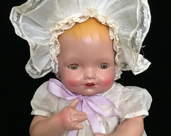 "RARE!!!  20"" Composition Baby Blossom Doll by Kallus"