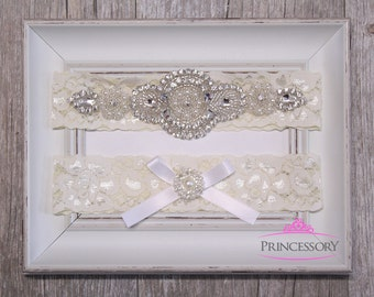 Garter Wedding, Plus Size Garter, Lace Garter, Wedding Garter, Bridal Garter Set, Wedding Garter Set, Rhinestone Garter, toss garter WG23