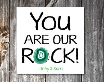 Fathers Day Card- You are Our Rock Tag- Dad You Rock- Dad Rocks- You Rock Dad- Fathers Day Tag- Fathers Day Card