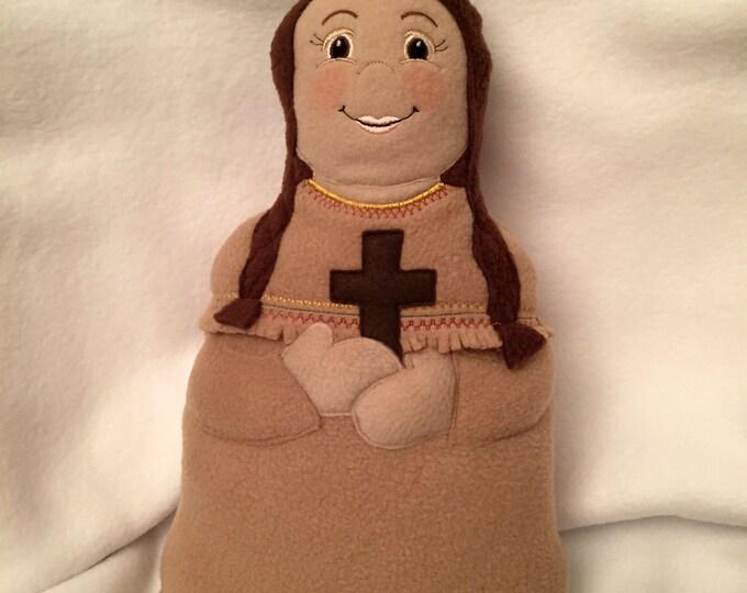 St. Kateri Tekakwitha Soft Saint Doll, Catholic Saint Doll, Saint Kateri Doll, Native American Saint, Soft Plush Doll, Saint Toy Doll.