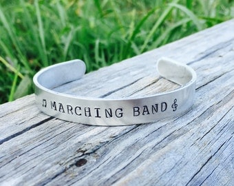 Marching Band CUFF Bracelet | Band Jewelry | Band Bracelet | High School Marching Band Jewelry | Band Mom | Gift For A Marching Band Member