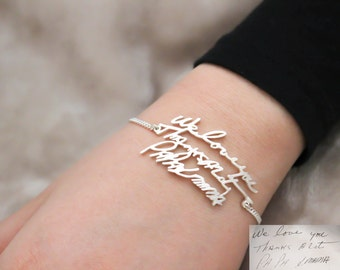 Handwriting Jewelry • Handwriting Bracelet • Signature Bracelet • Keepsake Bracelet • Memento Gift • Mother Gift • MOTHER'S GIFT • BH01