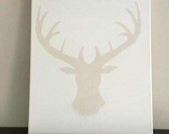 Antler Canvas Deer Painting