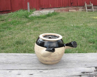 Vintage Antique Japanese Tea Pot ,Stoneware,Glazed ,Home Decor