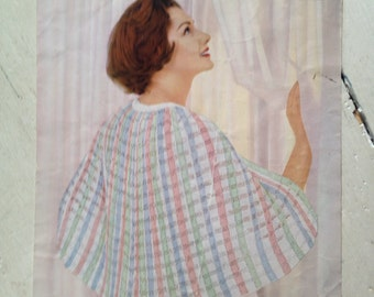Knitting Pattern Bed Cape : Bed jacket cape Etsy
