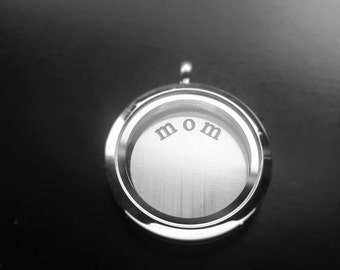 Mom Window Plate for Floating Lockets-Fits Large Lockets-Gift Idea for Mothers