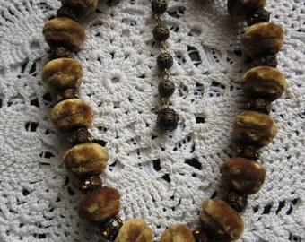 Vintage Velvet Choker Rhinestone Necklace