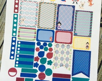 Fa Mulan Weekly Planner Stickers Set, for use with Erin Condren Life Planner, Happy Planner