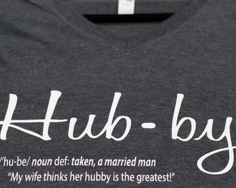 "Wedding ""HUBBY definition"" marriage t-shirt 100% cotton"