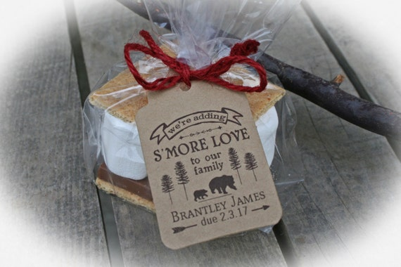 Lumberjack Baby Shower S More Love Favor Kits 3 Tag Colors
