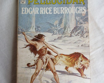Pellucidar by Edgar Rice Burroughs - Ace Paperback Book - Vintage Science Fiction