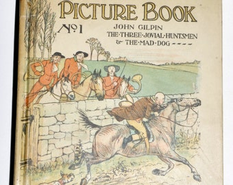 R. Caldecott's Picture Book. Antique Books. Old Books. 100 Years or Later. Edwardian Era. Antiquarian Books. Gift for Book Lover. Victorian.