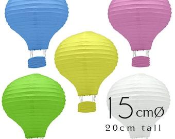 20 Colored Hot Air Balloon Paper Lanterns (6inch / 15cm) - DIY Wedding, Birthday, Party, Baby Shower, Nursery Decoration, Handicraft DIY