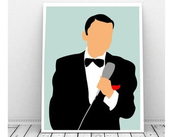 Frank Sinatra Poster, Frank Sinatra Art, Instant Download, Downloadable Art, Famous People, Music Artwork, Music Print, Rat Pack