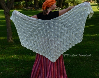 Angel Wings Shawl Knitting Pattern PDF Instant Download