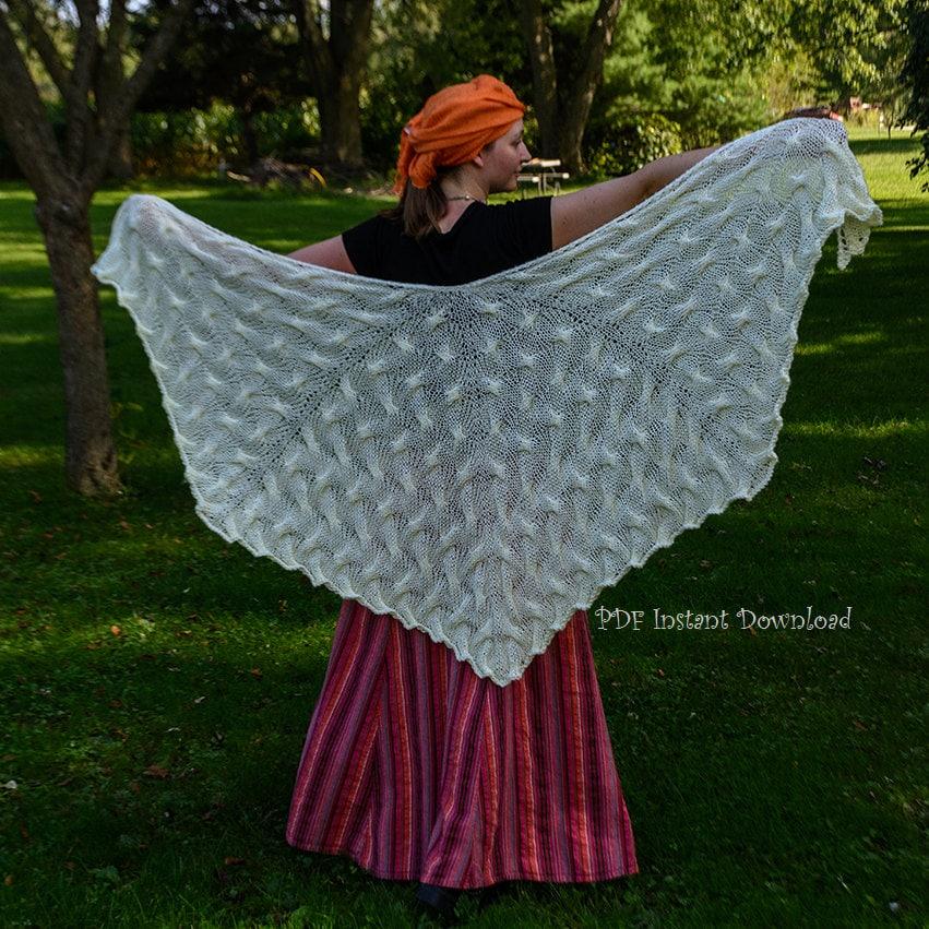 Knitting Pattern For Angel Wings : Angel Wings Shawl Knitting Pattern PDF Instant Download