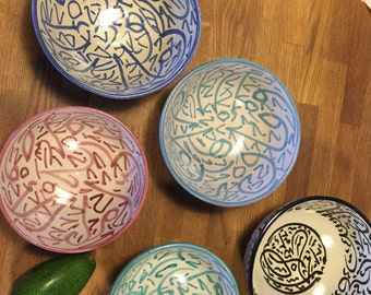 lot of bowls, Bowl ceramic handmade Morocco