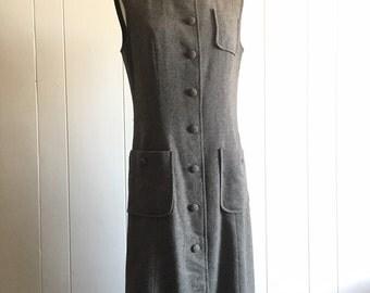 60s sweater dress M ~ vintage wool shift dress