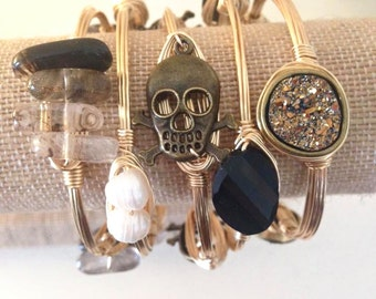 Bronze Skull & Crossbones Bangle