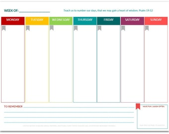 PDF: Week-At-A-Glance | One Page Planner