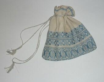 1930's Handwoven Wedding Purse - From Guatemala - Something Borrowed - Something Blue- XO's
