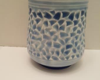Carved Illuminating Porcelain Candle holder