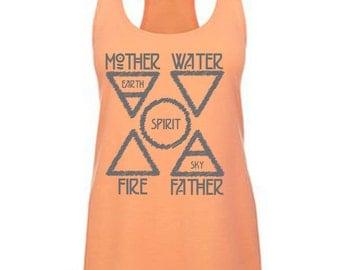 Yoga Tank Top-Five Elements-Yoga Tank,Om Yoga Shirt,Funny Yoga Shirt,Flowy Tank,Yoga Clothes,Gym Shirt,Workout Shirt,