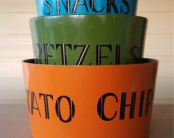 Vintage Snack Nesting Bowls Made in Japan