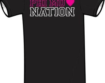 Phi Mu Nation Black Short Sleeve TShirt