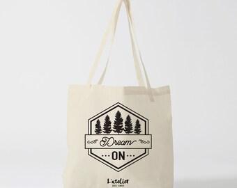 X195Y Tote bag dream on, bag, handbag, shopping bag, gym bag, diaper bag, bag, computer bag, bag