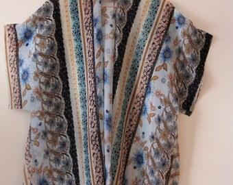 Mixed Print Kimono One Size