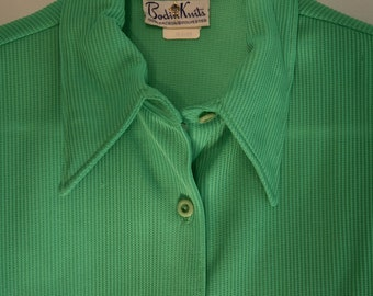 VINTAGE 70's BODIN KNITS Ladies Shirt