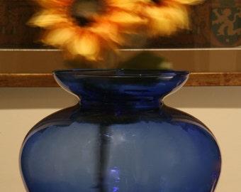 COBALT BLUE Flower Vase