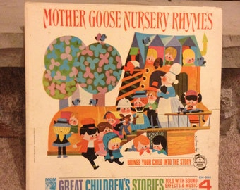 Vintage Vinyl Record Mother Goose Nursery Rhymes