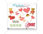 12 Valentine's Day Stickers! Perfect for your Erin Condren Life Planner, Filofax, Plum Paper other planner or scrapbooking #SQ00036